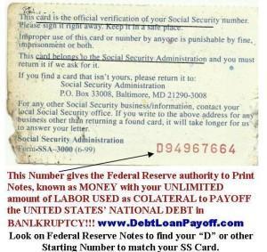 SS-5 Social Security Debt Insurance Prepaid Your Debts