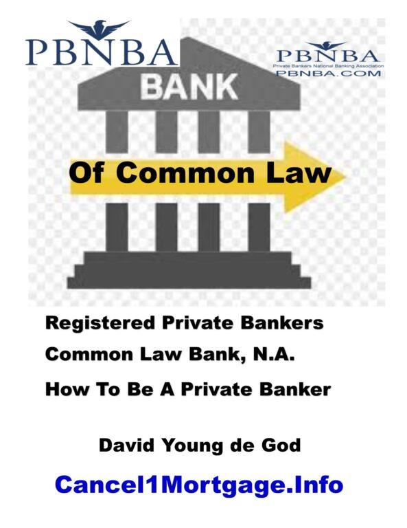 Private banker bank of common law e booklet cover